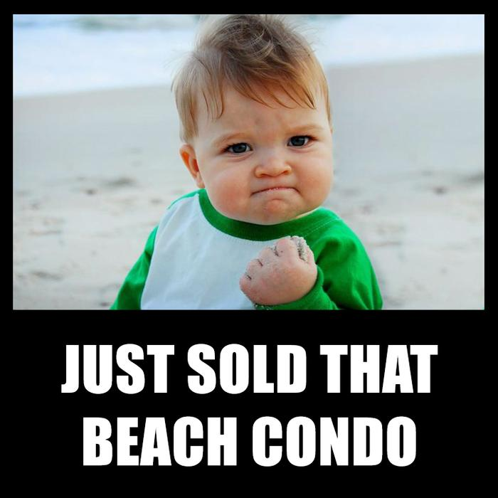 Just sold that beach condo! And most likely using offrs.com services to sell it!